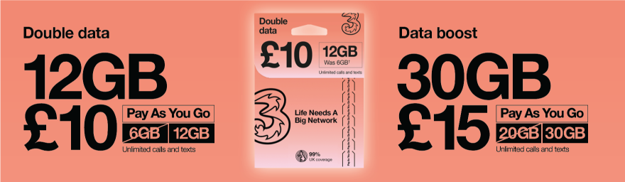 Three data packs
