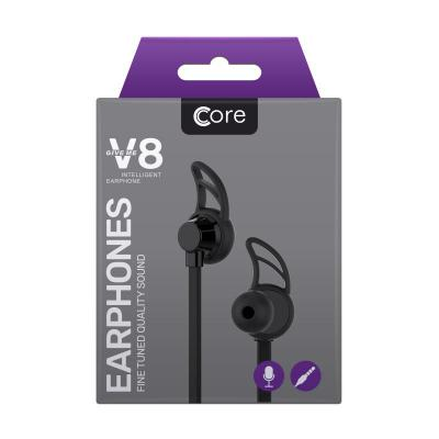 Core V8 Earphones Black
