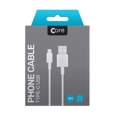 Core Type-C to USB Cable 3M White