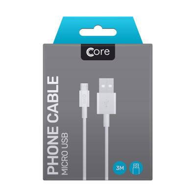 Core Micro USB Cable 3M White