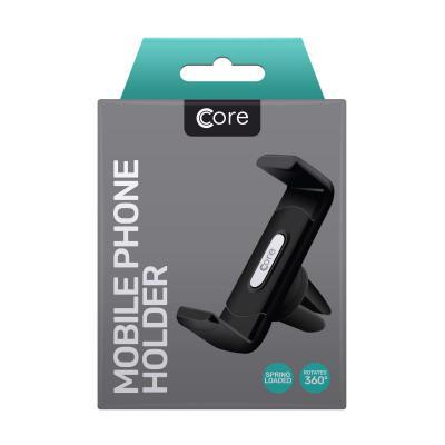 Core Air Vent Mobile Phone Holder Black