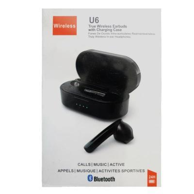 U6 True Wireless Earbuds Silver/White