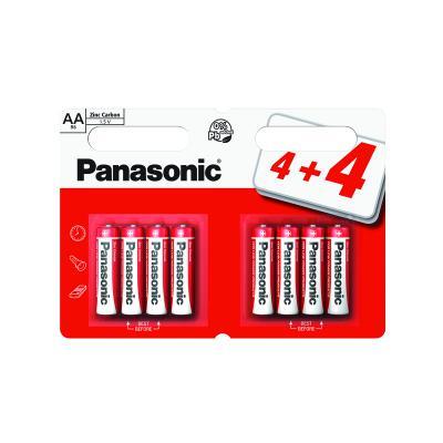 Panasonic Zinc AA Batteries 8 pack