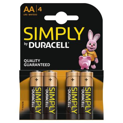 Duracell Simply AA Batteries 4 Pack
