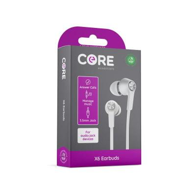 Core X6 Earphones White