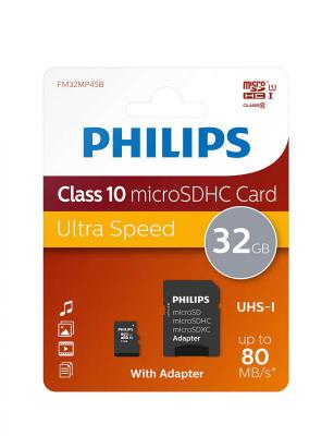 Philips Class 10 Micro SDHC with Adaptor 32GB